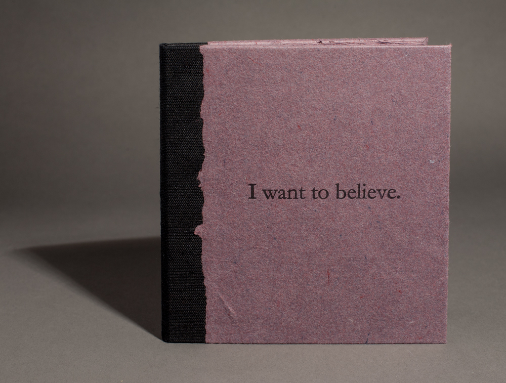 """I want to believe"" front cover"