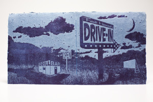 """Drive-in"" Limited Edition Artists' Book - Front & Back Covers"